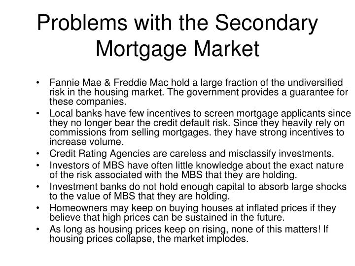 Problems with the secondary mortgage market
