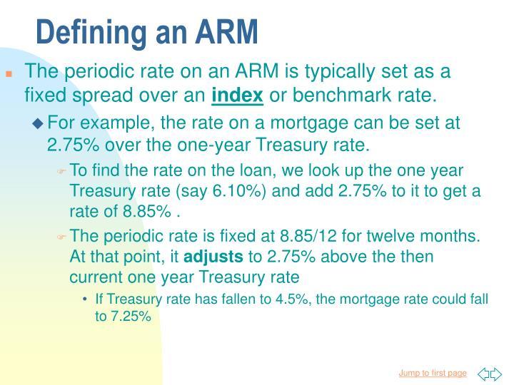 Defining an ARM