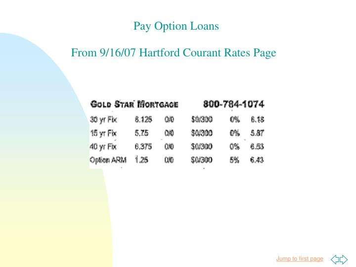 Pay Option Loans