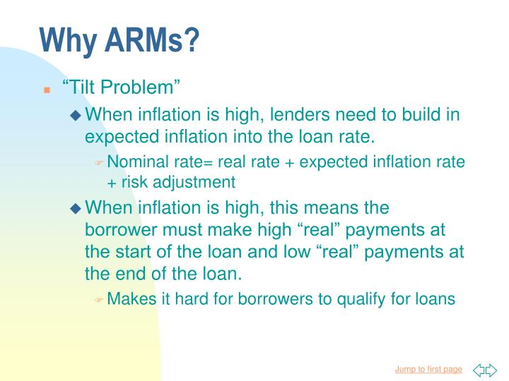 Why ARMs?