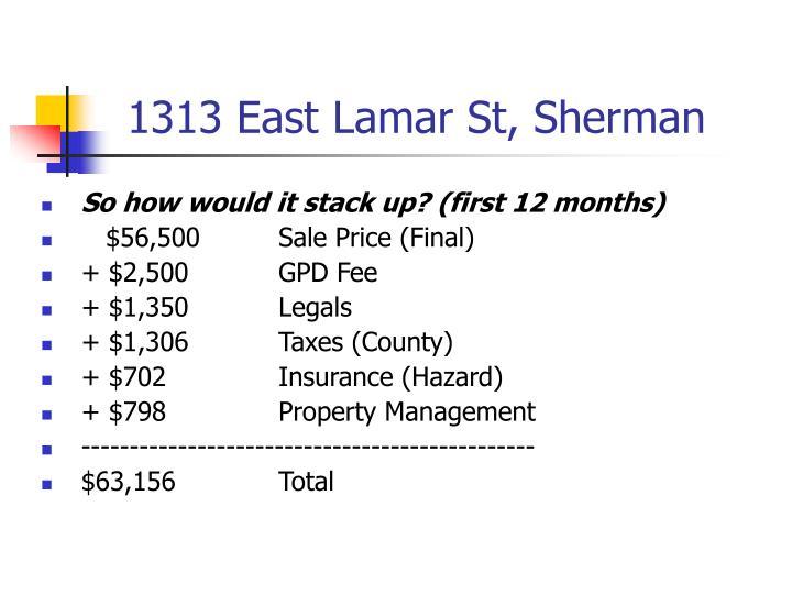 1313 East Lamar St, Sherman