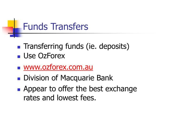 Funds Transfers