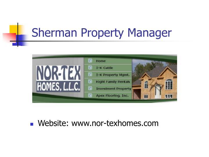 Sherman Property Manager