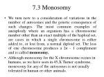 7 3 monosomy