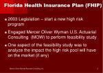 florida health insurance plan fhip