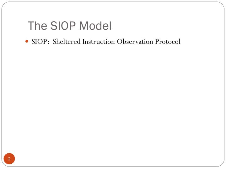 Sheltered Instruction Observation Protocol 34946 Loadtve