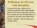 definition of a person with disability