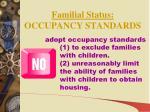 familial status occupancy standards1