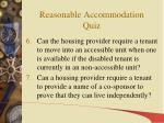 reasonable accommodation quiz