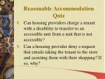 reasonable accommodation quiz1