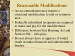 reasonable modifications