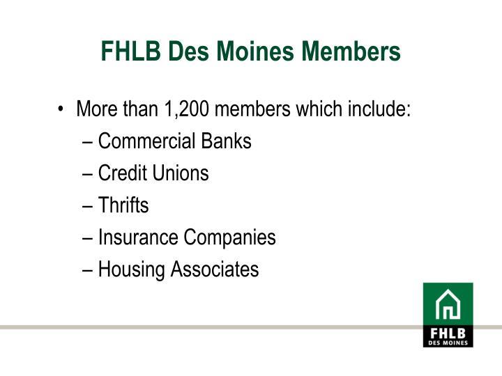 FHLB Des Moines Members