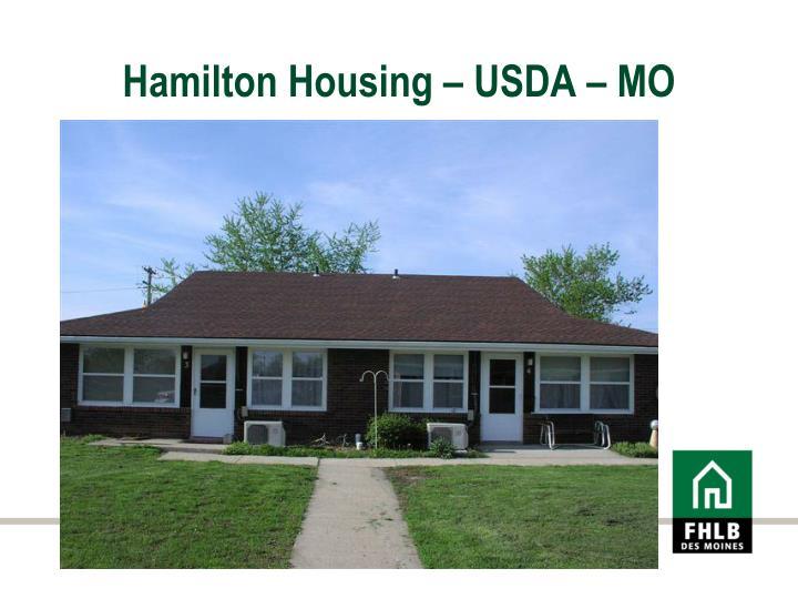 Hamilton Housing – USDA – MO
