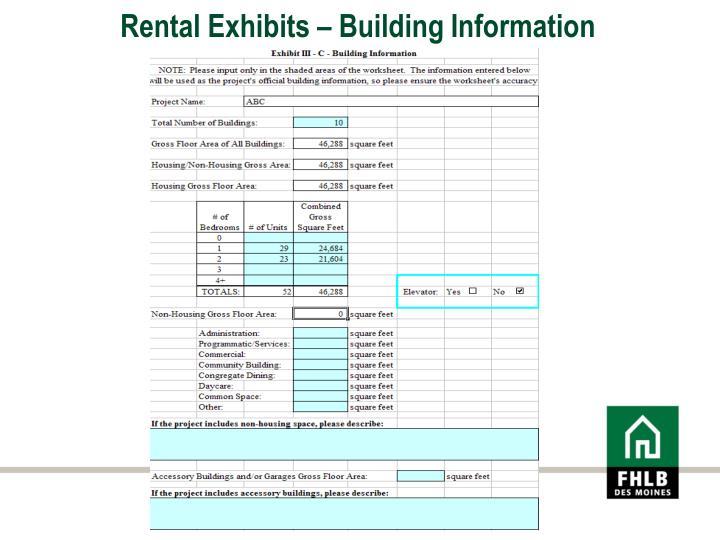 Rental Exhibits – Building Information