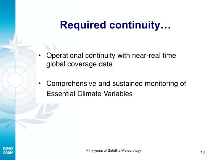 Required continuity…