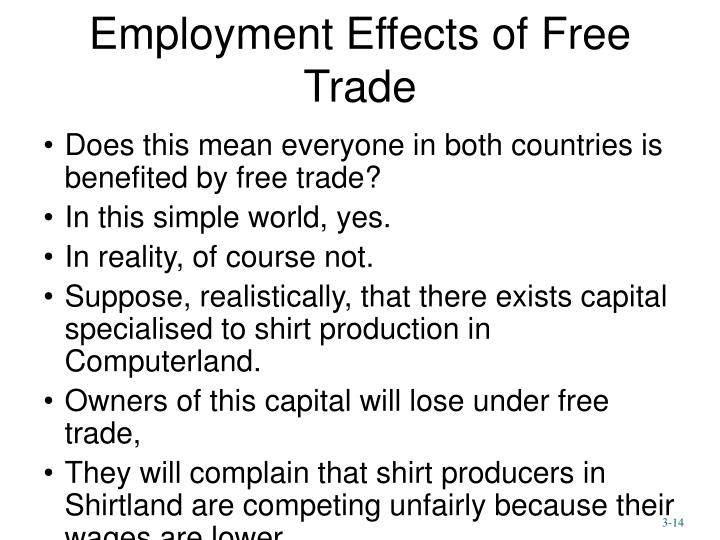 Employment Effects of Free Trade