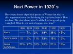 nazi power in 1920 s