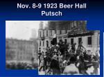 nov 8 9 1923 beer hall putsch