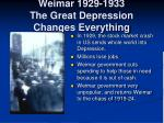 weimar 1929 1933 the great depression changes everything