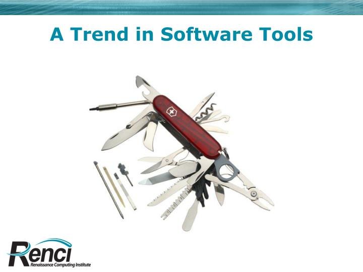 A Trend in Software Tools