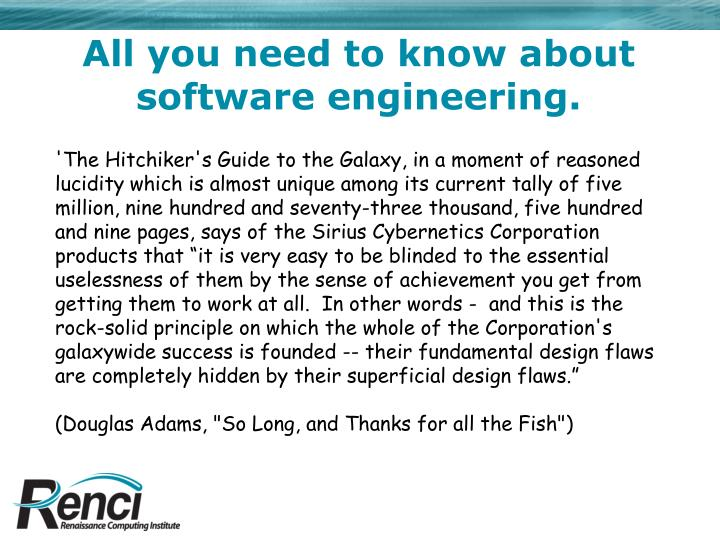 All you need to know about software engineering.
