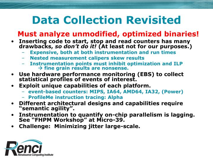 Data Collection Revisited