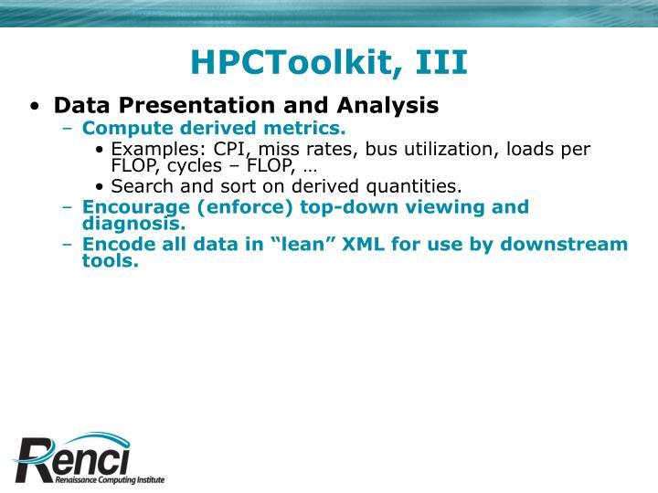 HPCToolkit, III