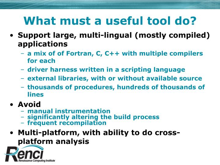 What must a useful tool do?