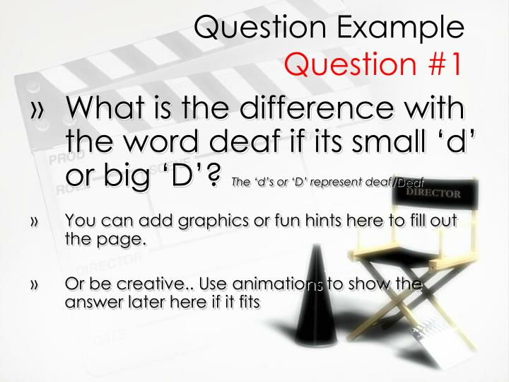 Question Example