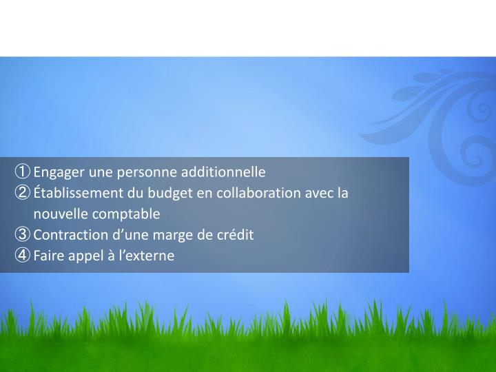 Engager une personne additionnelle