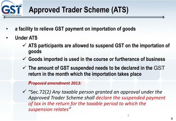 Approved Trader Scheme (ATS)