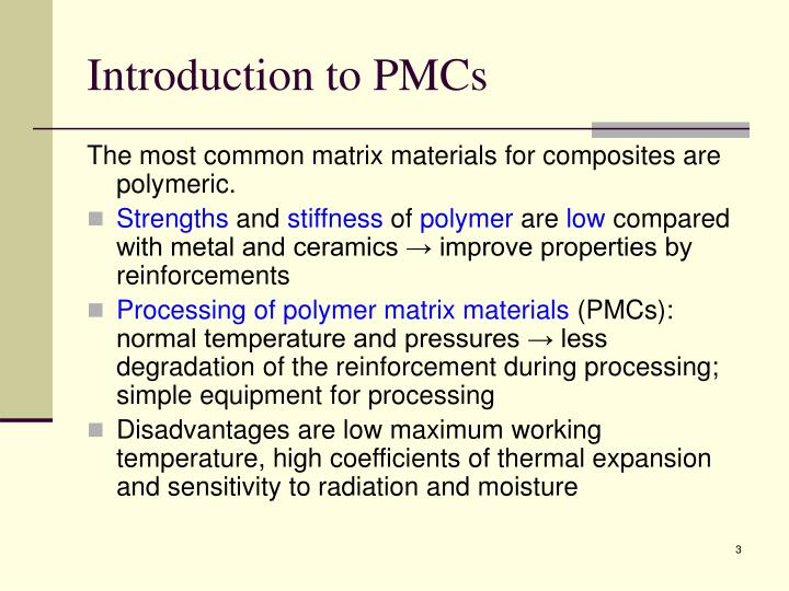 Introduction to pmcs