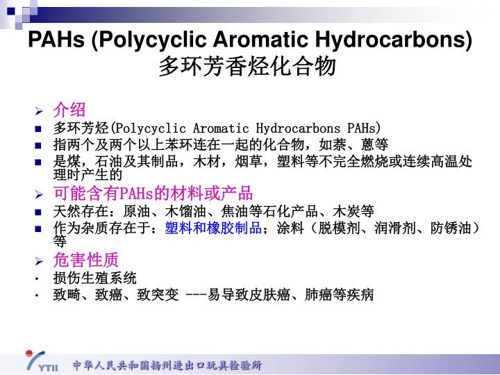 PAHs (Polycyclic Aromatic Hydrocarbons)