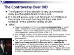 the controversy over did
