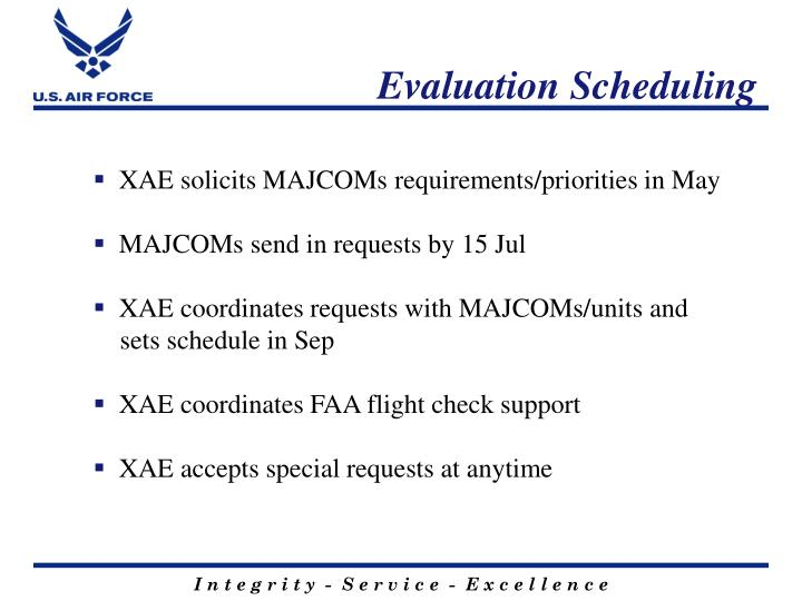 Evaluation Scheduling