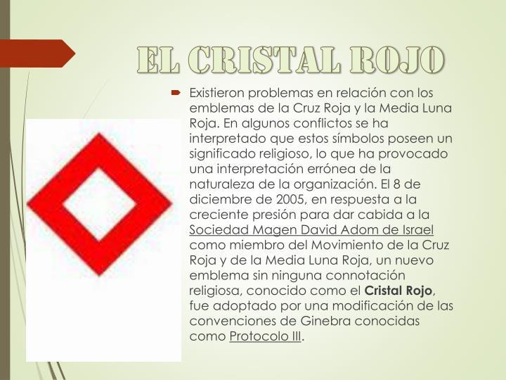 El cristal rojo