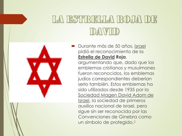 La estrella roja de David