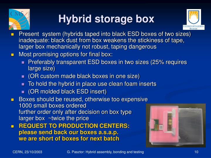 Hybrid storage box