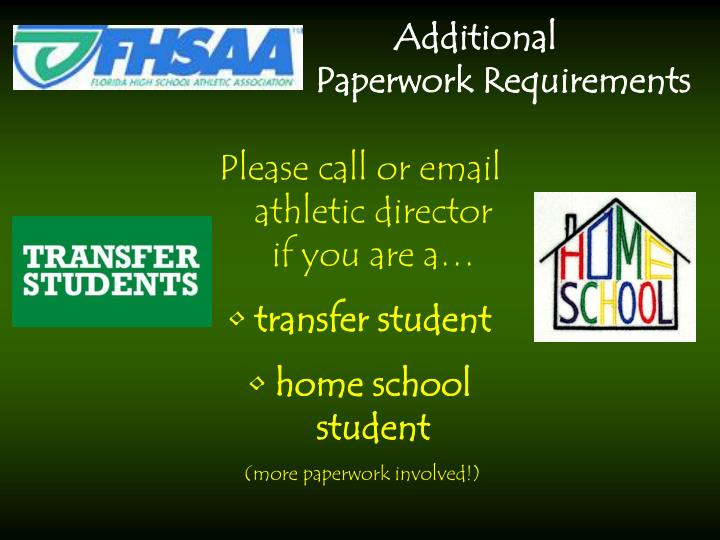 Please call or email athletic director if you are a…
