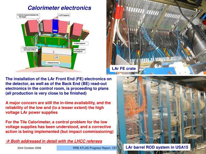 Calorimeter electronics