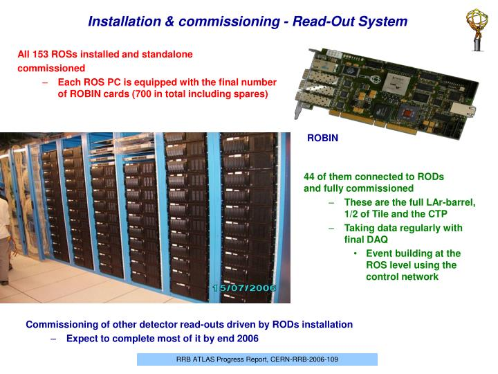Installation & commissioning - Read-Out System