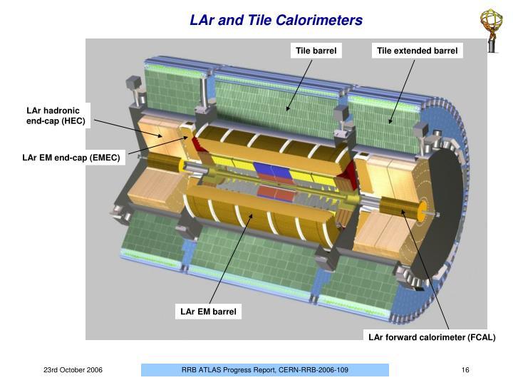 LAr and Tile Calorimeters
