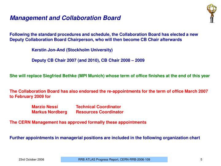 Management and Collaboration Board