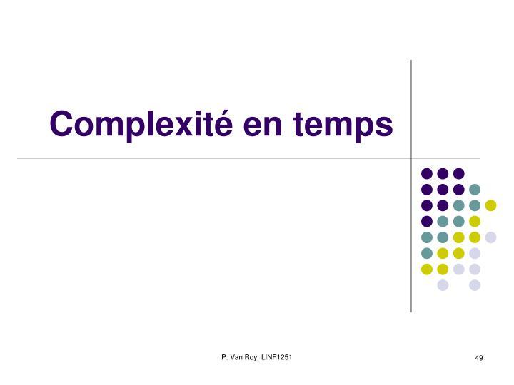 Complexité en temps