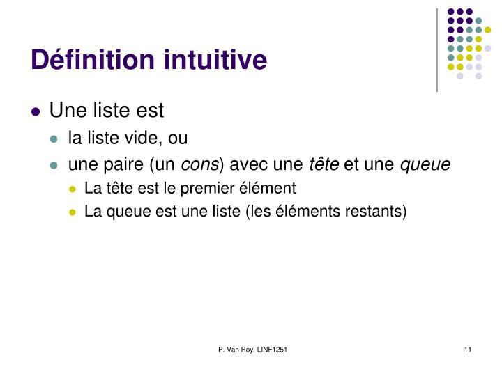 Définition intuitive