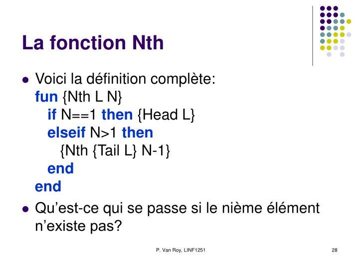 La fonction Nth