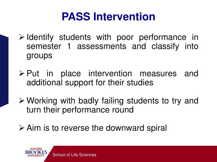 PASS Intervention