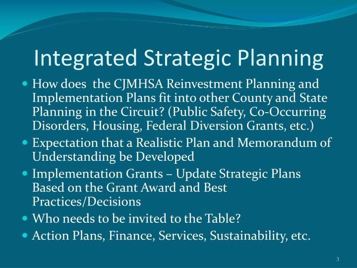 Integrated strategic planning