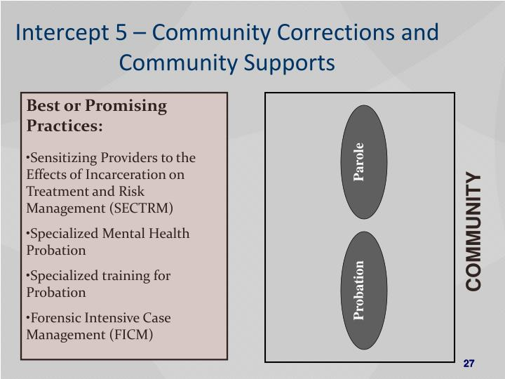 Intercept 5 – Community Corrections and Community Supports