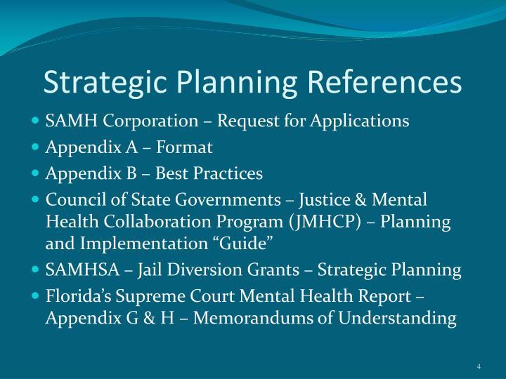 Strategic Planning References